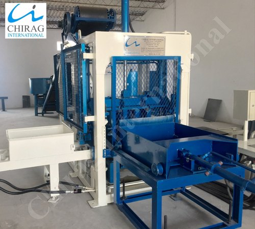 Automatic Blue Chirag Simple and Easy Operating Cement Brick Machine