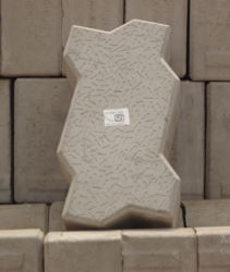 Grey Zig Zag Interlocking Paver Block, For Landscaping And Pavement