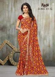 Ruchi Present Jaanki Georgette Printed Fashionable Saree