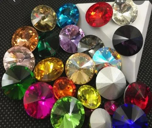 Glass Rivoli Fancy Stones