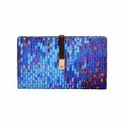 Chanderi Silk Casual Designs  Classy Lock Clutch Handbag