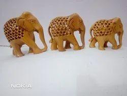Sandalwood Jali Elephant Set