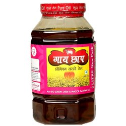 OmJee GaiChhap 2 Liter Organic Mustard Oil, Packaging Type: Plastic Container
