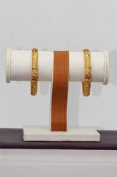 HR Sales Traditional Fancy Designer Golden Bangles for Women (HR-703)