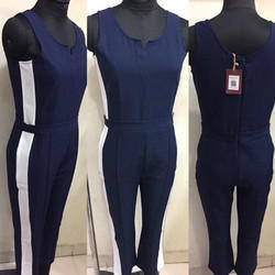 Ladies Navy Blue Jumpsuit