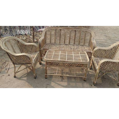 Brown 5 Seater Cane Sofa Set Rs 14500