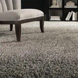 Grey Shaggy Floor Carpet