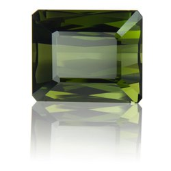6 Cts Green Glass Tourmaline Gemstone