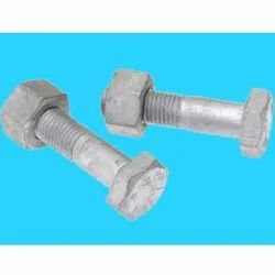 IS 1364 Hot Dip Galvanized MS Nut Bolt, Packaging Type: Box