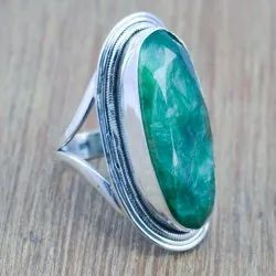 Emerald Gemstone 925 Sterling Silver Ring