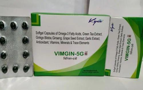 Vimgin-5G Softgel, Packaging Size: 10 X 10, Prescription