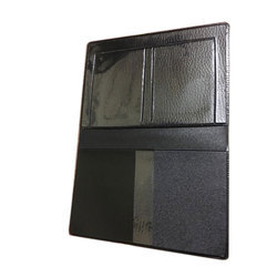 Black File Leather Cover