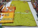 Party Wear linen Saree