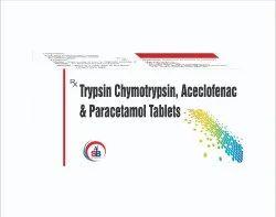 Trypsin Chymotrypsin, Aceclofenac & Paracetamol Tablets