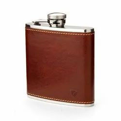 Leather Hip Flask 7 oz