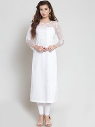 Stylish Lucknowi Work Chikan Kurti