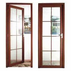Aluminium Glass Door, For Home, Thickness: 8-20 Mm