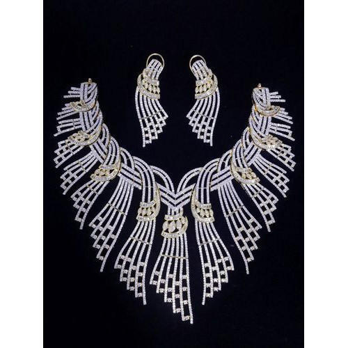 34f63fb5d PRAKASH American Diamond Necklace Set