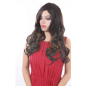 Dark Brown & Golden Curly Hair Wig