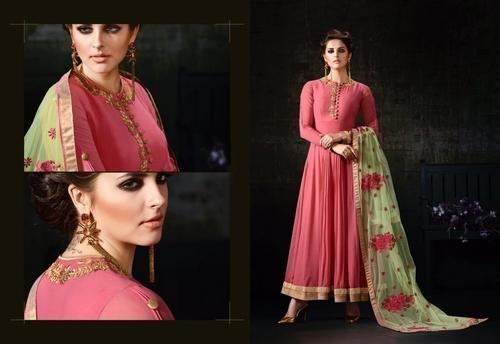 Georgette Semi-Stitched Anarkali Suit