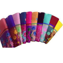 Ladies Cotton Embroidered Saree