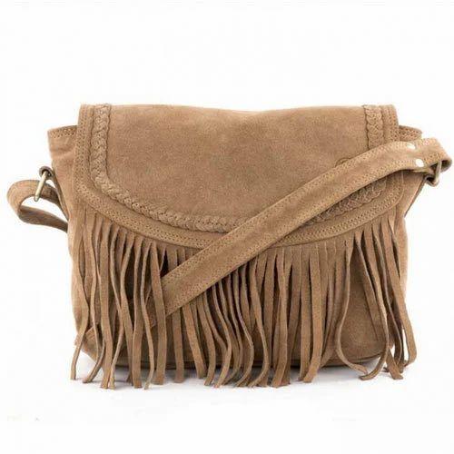 Light brown ladies leather fringe bag piece ir leather jpg 500x500 Brown fringe  bag 2793aef4499b2