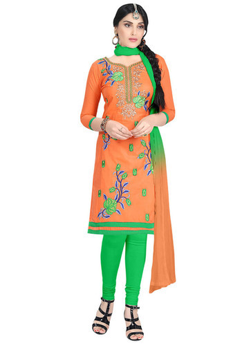 1ab2f8416a Printed Party Wear Straight Embroidery Unstitched Salwar Suit, Bottom Size  (Metre): 2.2