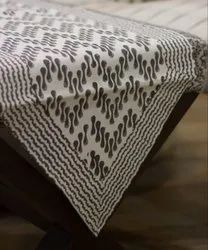 Cotton Hand Block Printed Table Cover Six Seaters