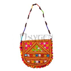 Ladies Embroidery Kutch Bag, Size/Dimension: 10-12 Inch