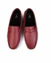 Men Casual Red Leather Driving Shoes
