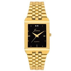 Golden Black Dial Men Premium Wrist Watch