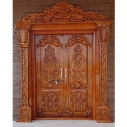 3d Exterior Luxury Solid Teak Wood Door