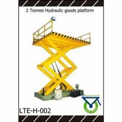 Coloured 2 Ton Hydraulic Goods Platform, Model Name/Number: Lteh-002