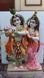 Marble Lotus Sitting Bal Krishna Statue
