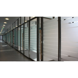 7 Feet Office Glass Partitions