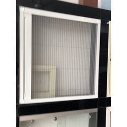 White Aluminium Mesh Windows
