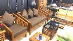 Brown Modern 5 Seater Sofa Set, Living Room