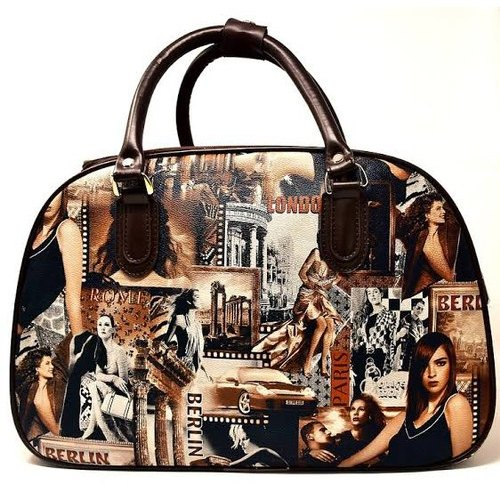 top fashion new images of sale retailer Women''s Brown Printed Leather Handbags
