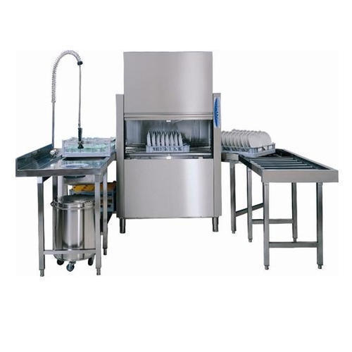 Stainless Steel New Rack Conveyor Type Dishwasher, Capacity: 1500 To 4000 Dishes/Hour