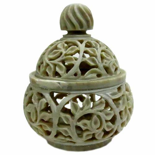 Grey Light Soapstone Pill Box Shrinath Art Gallery Id 3887195491