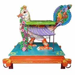 Wood Multicolor Annam Vahanam, Size/Dimension: 1 Feet - 12 Inches