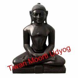 Black Marble Mahaveer Swami Statue