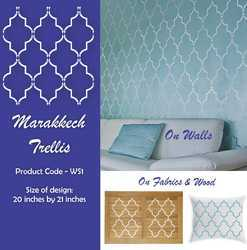 Marrakech Trellis Allover Wall Stencil