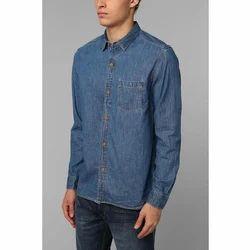 Men Denim Full Sleeves Casual Shirt, Size: S - XL