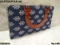 Ikat Clutch With Handle