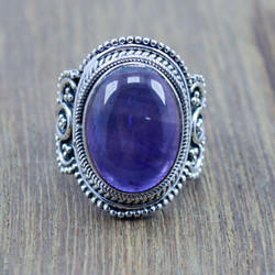 925 Sterling Silver Jewelry Amethyst Gemstone Handmade Ring Wr-5182