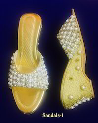 Pearl Work Beautiful Sandals
