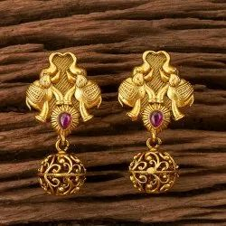 Antique Tops Earring with Matte Gold Plating 202882