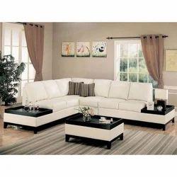 Solid Wood L Shape Sofa Set