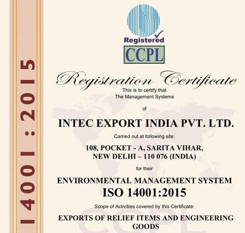 Intec Export India Private Limited - Manufacturer from Sarita Vihar